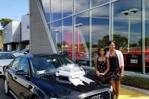White Bow on Audi